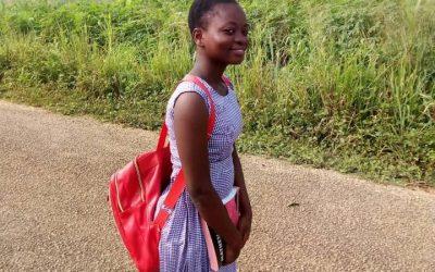 Jessica in ihrem Schulalltag