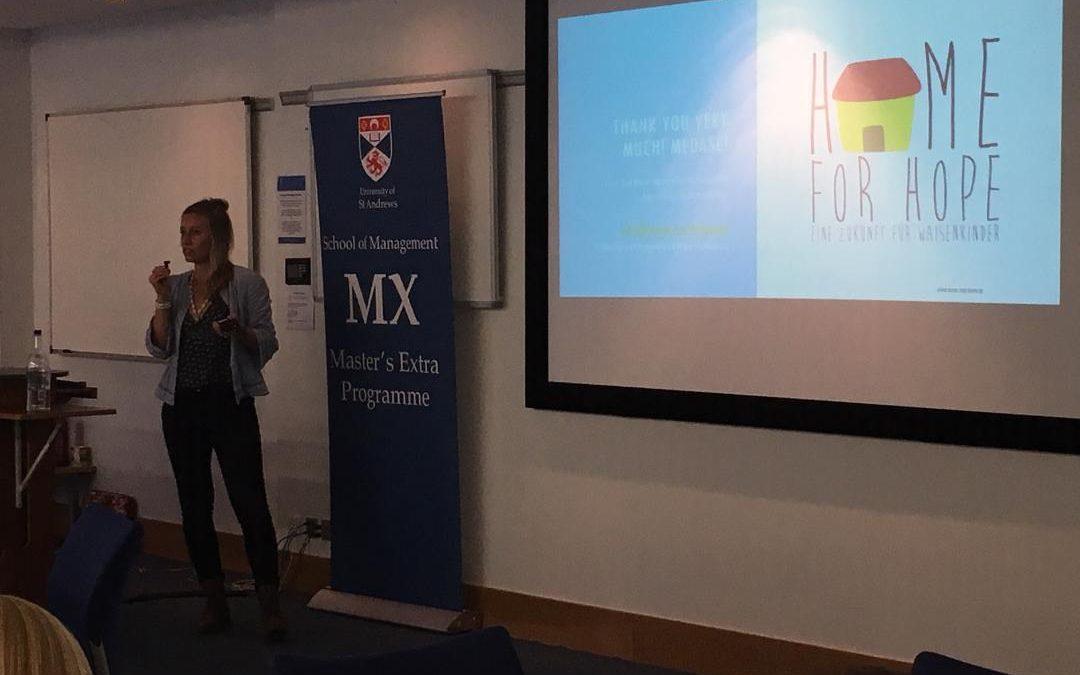 Presentation at the University of St. Andrews, Scotland