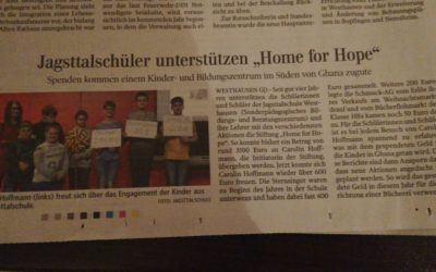 Pupils of Jagsttalschule support Home for Hope