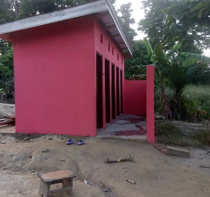 New toilets for the school